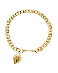 Lauren by Ralph Lauren - Metallic Chainlink Charm Necklace - Lyst
