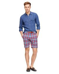 Brooks Brothers | Blue Madras Shorts for Men | Lyst