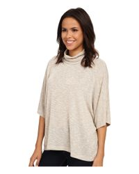 Bobeau | Natural Cowl Shimmer Poncho Knit | Lyst