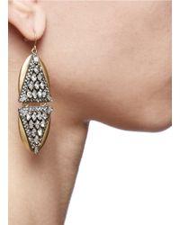 J.Crew | Metallic Crystal Triangles Earrings | Lyst