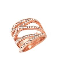 Vince Camuto | Pink Rhinestone Coil Ring | Lyst