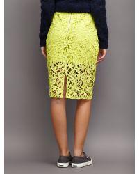Samsøe & Samsøe Yellow Lexy Lace Skirt
