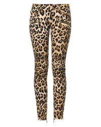 Balmain - Brown Skinny Mid-Rise Stretch-Denim Jeans - Lyst