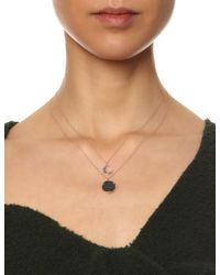 Laura Lee | Pink Rose Gold Sapphire Moon Necklace | Lyst