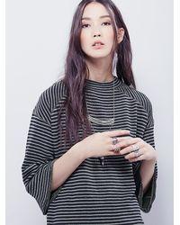 Free People - Green Womens Edie Stripe Tunic - Lyst