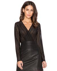 Bardot Black Stripe Bodysuit