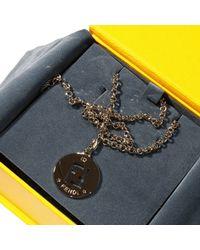 Fendi Metallic Bijoux Necklace With Charming 48 Cm