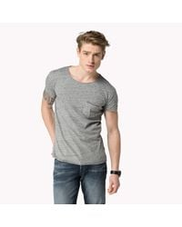 Tommy Hilfiger | Gray Cotton T-shirt for Men | Lyst