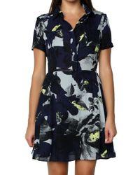 Parker   Black Kelby Combo Dress   Lyst