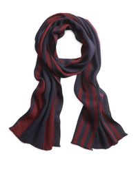 Brooks Brothers | Blue Rugby Stripe Scarf for Men | Lyst