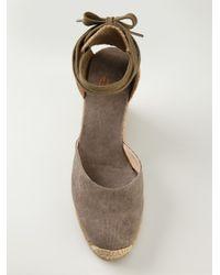 Castaner Brown Wedge Espadrille Sandals