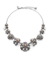 kate spade new york - Metallic Space Age Floral Statement Necklace - Lyst