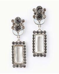 Ann Taylor | Metallic Opal Stone Drop Earrings | Lyst