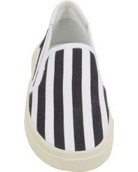 Saint Laurent - Black Stripeprint Skate Slipon Sneakers for Men - Lyst