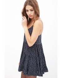 Forever 21 - Blue Tiered Floral Cami Dress You've Been Added To The Waitlist - Lyst