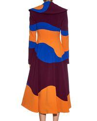 ROKSANDA Orange Camber Tri-colour Panelled Coat