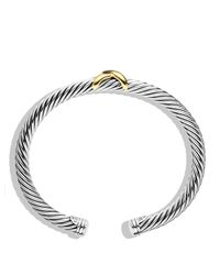 David Yurman - Metallic Renaissance Bracelet With Chrome Diopside, Hampton Blue Topaz And 14k Gold, 5mm - Lyst