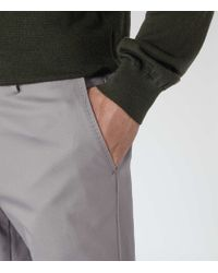 Reiss | Gray Medway Classic Twill Chinos for Men | Lyst