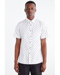 Native Youth - White Target Woven Button-Down Shirt for Men - Lyst