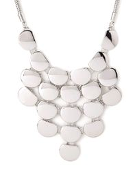 Forever 21 - Metallic Sleek Plated Bib Necklace - Lyst