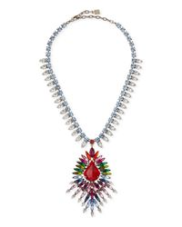 DANNIJO - Valeria Multicolor Crystal Necklace - Lyst