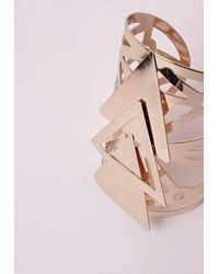 Missguided - Metallic Statement Triangle Cuff Gold - Lyst