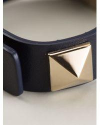 Valentino - Blue 'Rockstud' Bracelet - Lyst