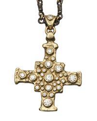 Brevard - Metallic Cross Necklace - Lyst
