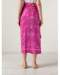 Muzungu Sisters Pink Ikat Print Sarong