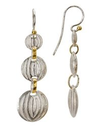 Gurhan | Metallic Sterling Silver Layered With 24k Gold Earrings | Lyst