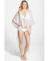 BCBGeneration - White Solid Open Front Wrap - Lyst