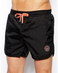 Pull&Bear Black Swim Shorts for men