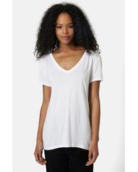 TOPSHOP - White Cotton Oversized Shirt - Lyst