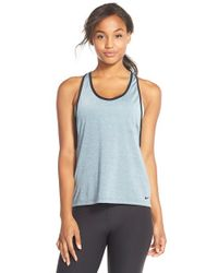 Nike | Blue Pro Inside Tank Top | Lyst