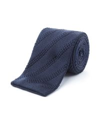 Gibson | Blue Diagonal Textured Tie for Men | Lyst