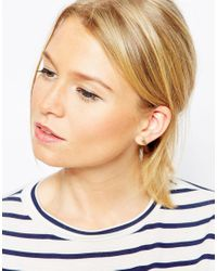 ASOS | Natural Limited Edition Chunky Bar Double Earrings | Lyst