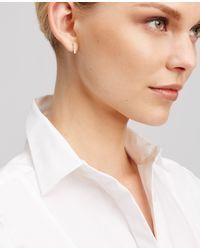 Ann Taylor | Metallic Pave Bar Stud Earrings | Lyst