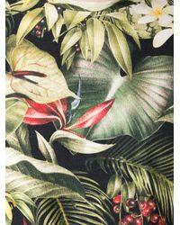 AMI - Black Jungle Print Tshirt for Men - Lyst