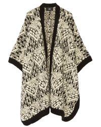 Line Black Claremont Merino Wool-blend Bouclé Cape