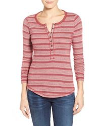 Lucky Brand | Multicolor Geo Stripe Thermal Top | Lyst