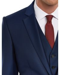 Jaeger Blue Wool Twill Suit Jacket for men
