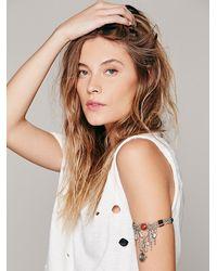 Free People - Metallic Upper Skinny Tie Arm Cuff - Lyst