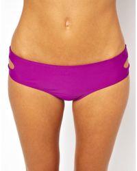 ASOS   Purple Cut Out Deep Hipster Bikini Pant   Lyst