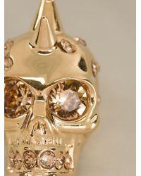 Alexander McQueen | Metallic Skull Pendant Necklace | Lyst