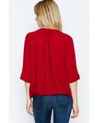 Joie | Red Marru Top | Lyst