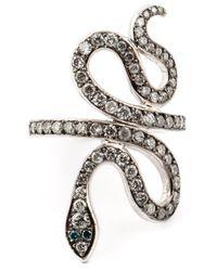 Ileana Makri | Black Python Ring | Lyst