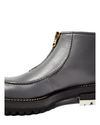 Marni - Gray Women's Chunky Leather Ankle Boots In Grey - Lyst