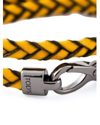 Tod's - Yellow 'my Colours' Bracelet - Lyst