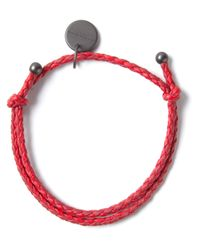 Bottega Veneta | Red Woven Bracelet | Lyst