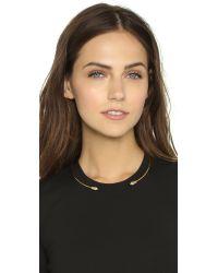 Rebecca Minkoff Metallic Two Pyramid Collar Necklace - Gold